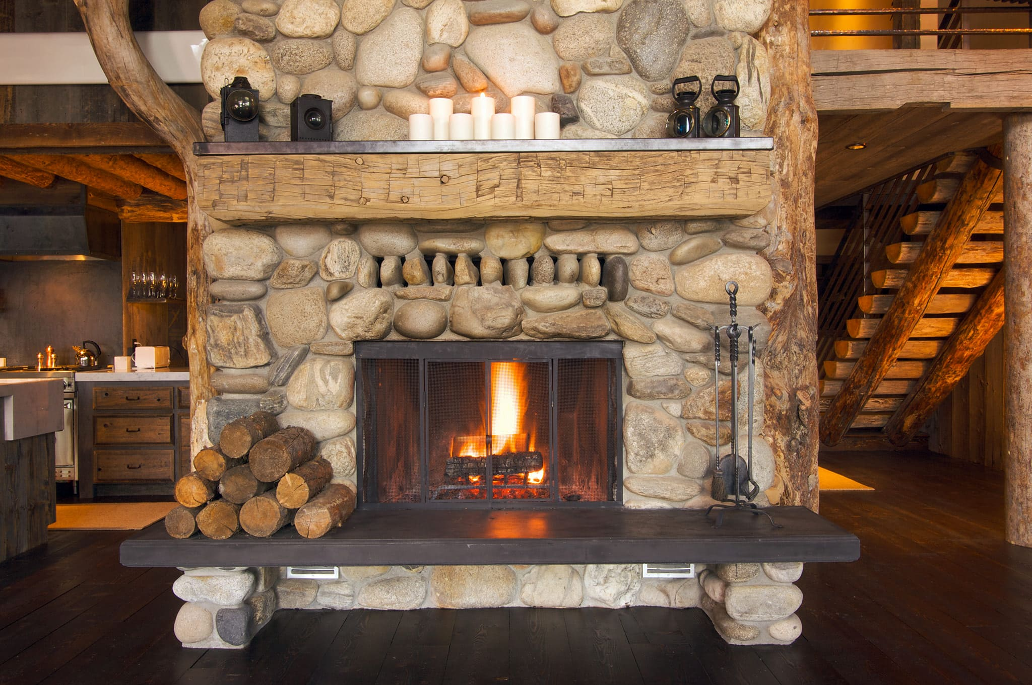 Fireplace Structure in Living Room
