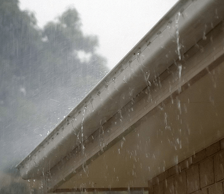 Rainstorm Over Gutters